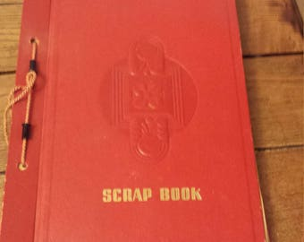 Vintage Scrapbook with Valentines day and other cards