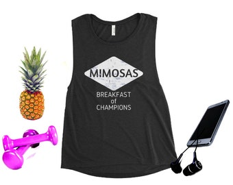 7a74a2b8 Mimosa Tank Womens Tank Yoga Top Day Drinking Tank Funny Workout Tank Flowy Graphic  Tee Gym Tank Muscle Tee Champagne Brunch Shirt Weekend