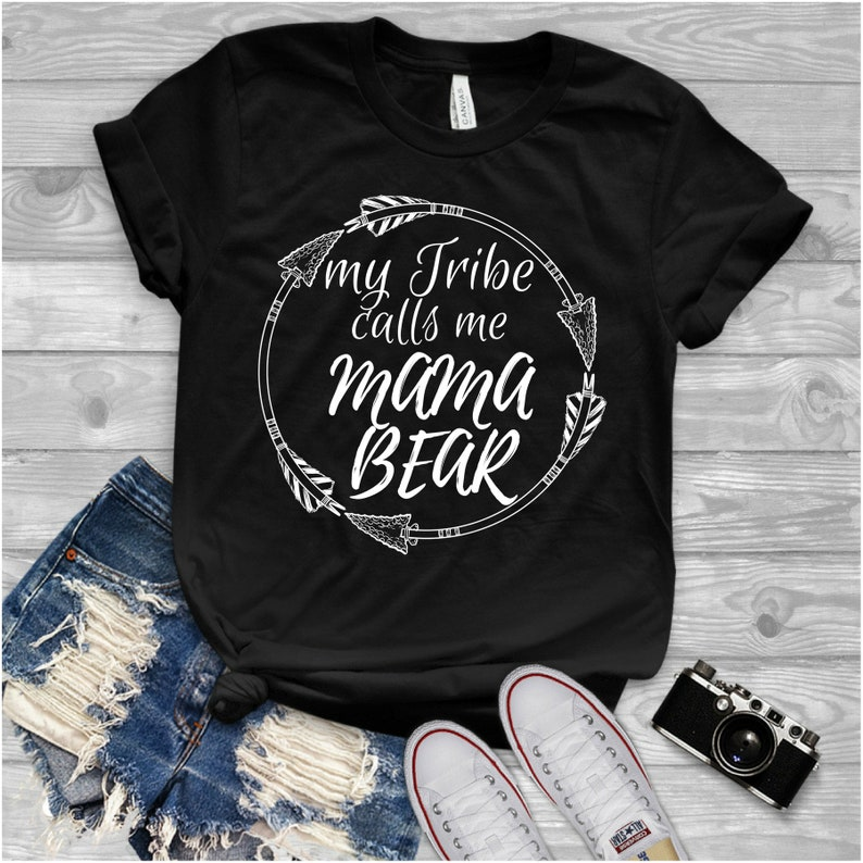 9073534041 My Tribe Calls Me Mama Bear Shirt Mommy Shirts Gift for Mom | Etsy