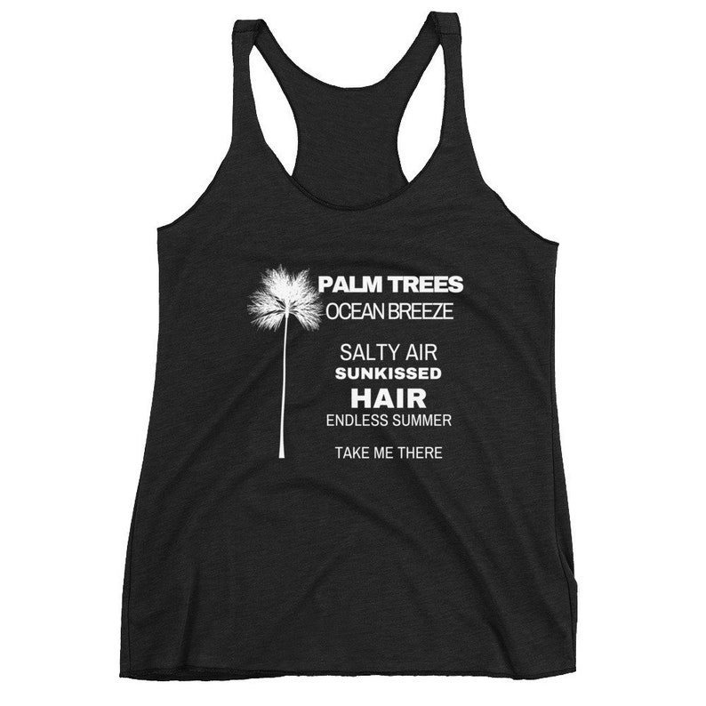 4e3990c2ea7 Tank Tops For Women Palm Tree Shirt Womens Beach Tank Top
