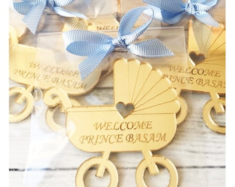 Acrylic Baby Stroll Baby Shower Magnets Baby Shower Favors Etsy