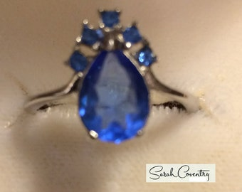 ANTIQUE Sarah Coventry Vintage Jewelry -  Moon River Ring #0899   Size 8