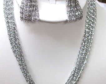 ANTIQUE Sarah Coventry Jewelry -  Silvery Cascade 3-piece set  #8581