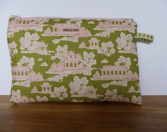 POUCH pink & Green