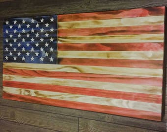 Traditional Torched American Flag