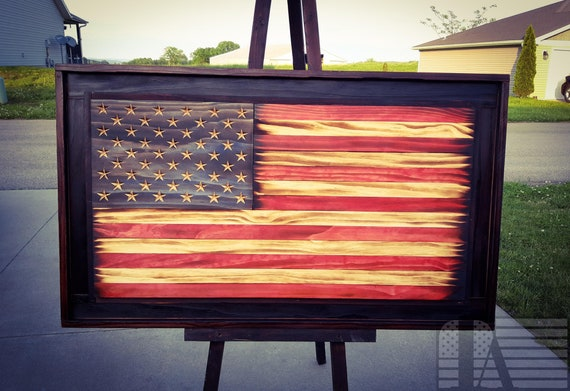 Double Framed American Flag