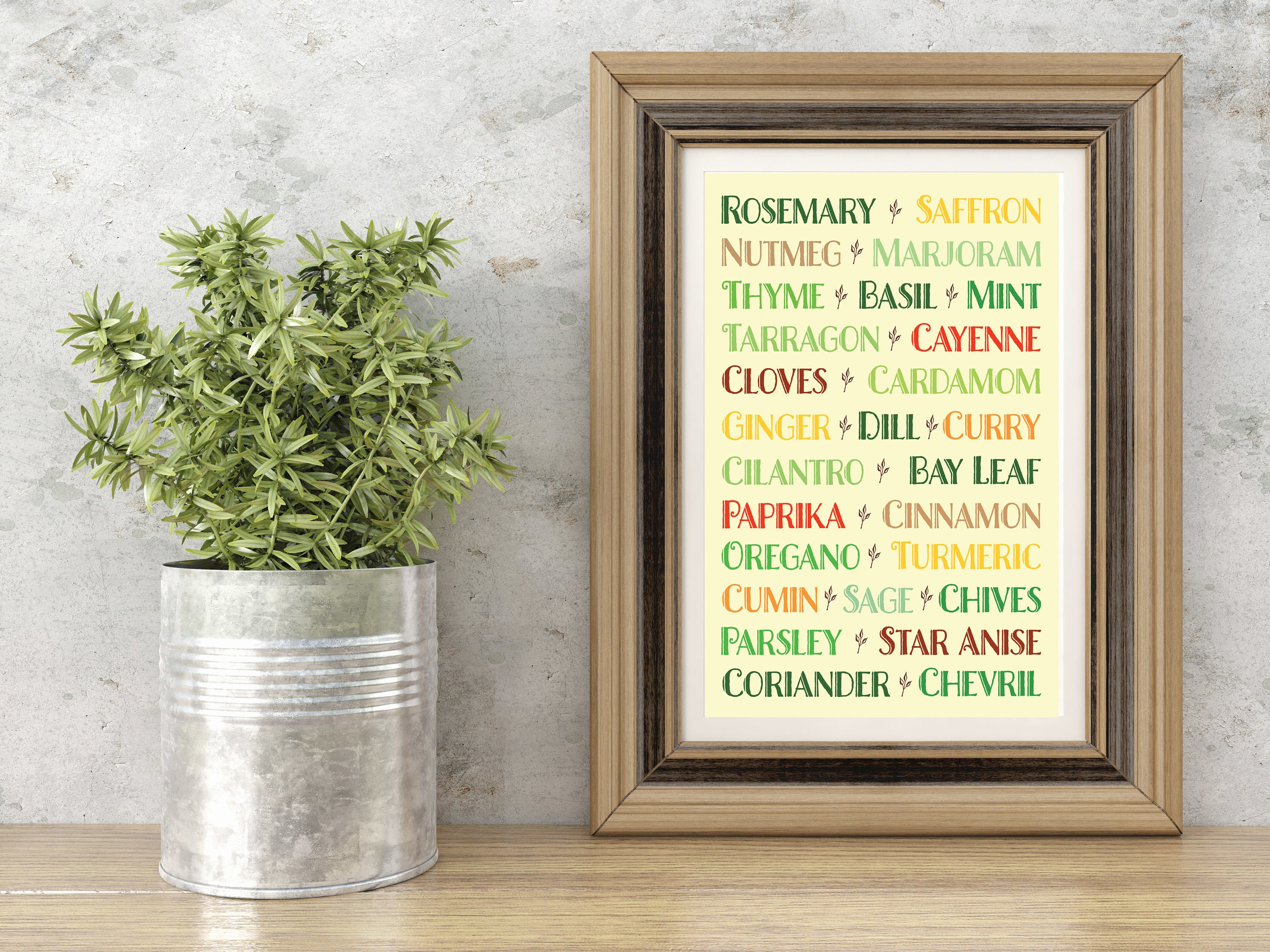 Kitchen Art / Kitchen Spices and Herbs Wall Art 11 x 14 Matted Print ...