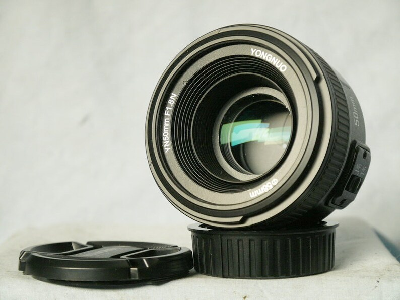 Mint-Nice- Nikon Af Fit Yongnuo YN50mm F1.8 AF MF Standard Prime Lens for Nikon Dslr D7100 D5500 D800