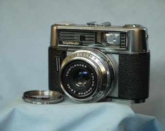 Voigtlander Vitomatic IIb Vintage Rangefinder Camera c/w Color Skopar Lens  -Nice-