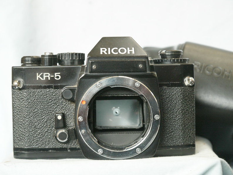Ricoh KR-5 Pentax K Fit SLR Camera cw ERC Nice Set-
