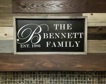 Rustic Wood Custom Family Sign
