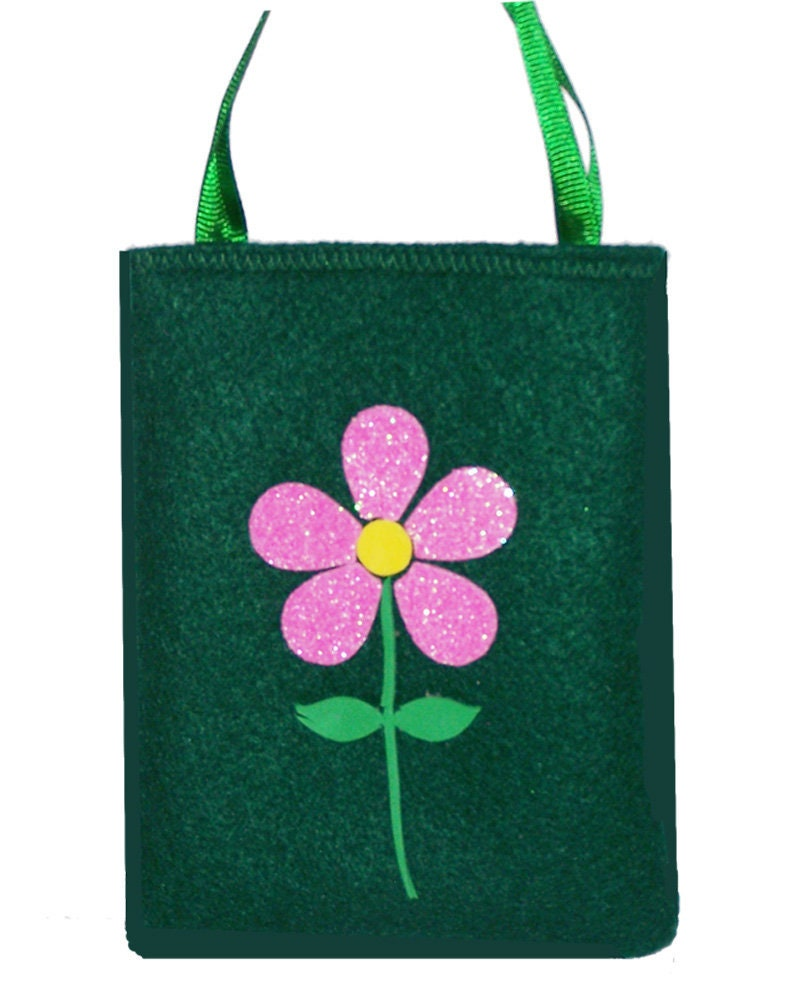 Pink Flower 2 Gift Bag Etsy