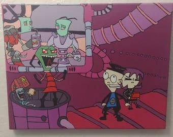 Invader Zim Painting - 11x14