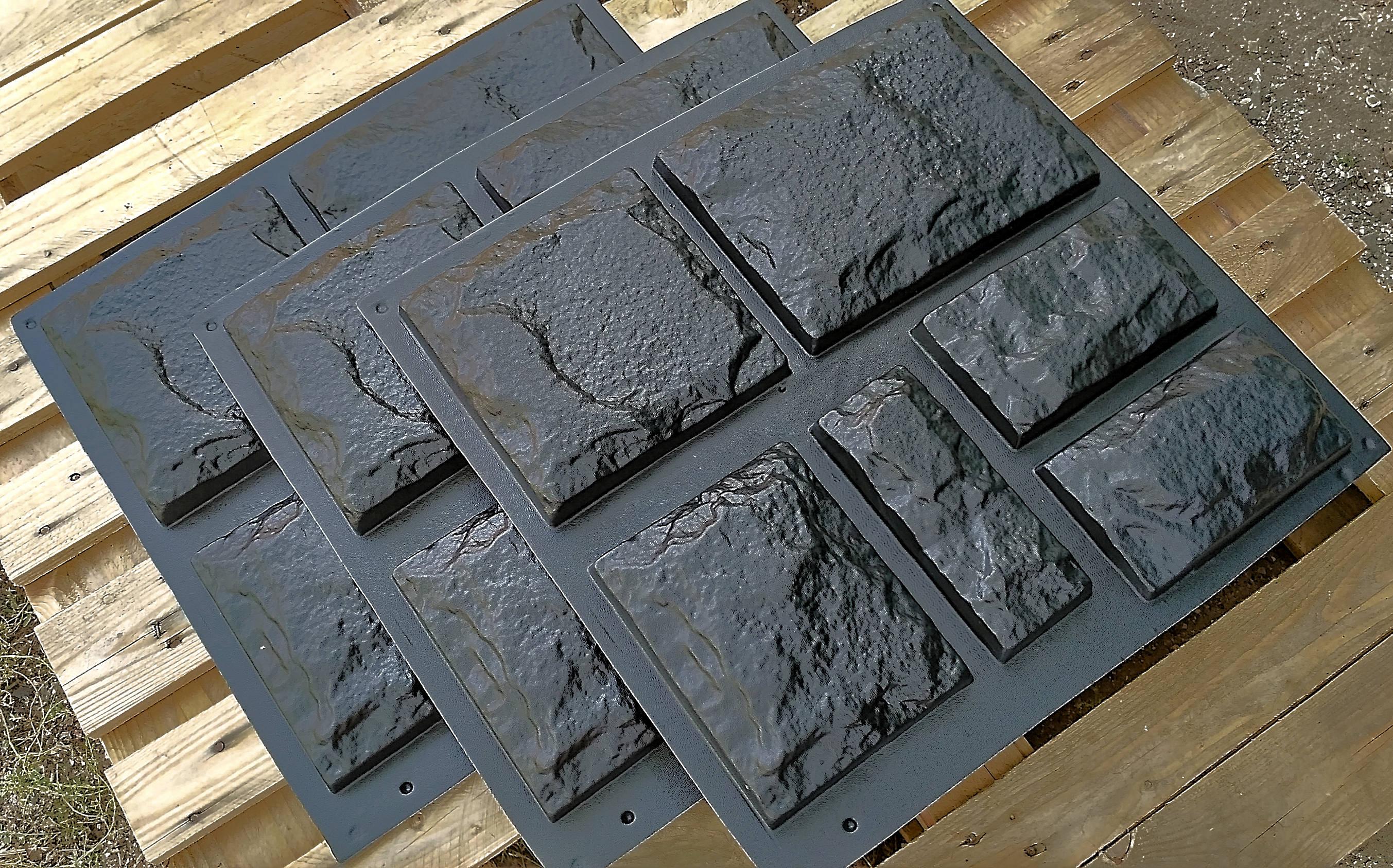 kunststoff formen f r gips und beton dekorativen steines. Black Bedroom Furniture Sets. Home Design Ideas