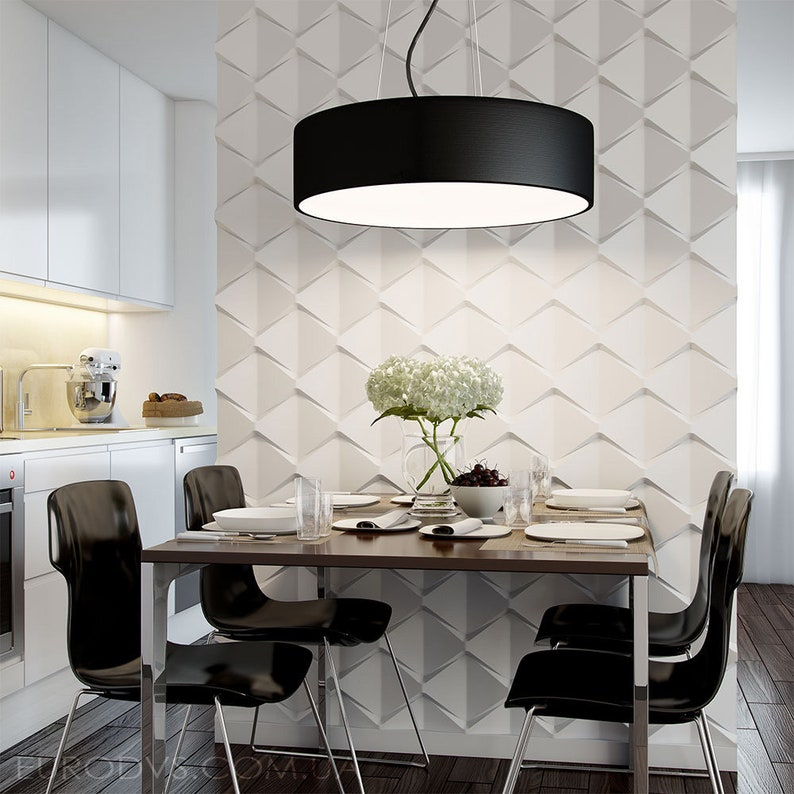 Plastic mold for 3d decor wall panels #16 gypsum for plaster or concrete