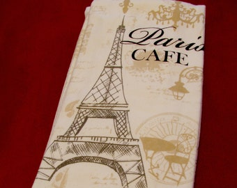 Eiffel Tower Cloth Napkins-Set of 4-Black /& Ivory-French Parisian Party-Brunch-Lunch-Tea-Wine-Bridal.