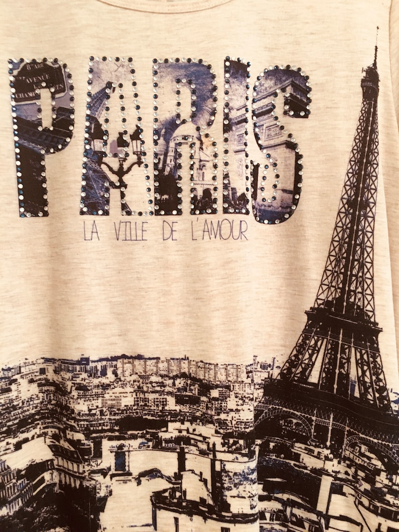 XL Lovely Flared Paris Eiffel Tower Designed Top