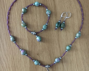 Ruby in Fuchsite Set