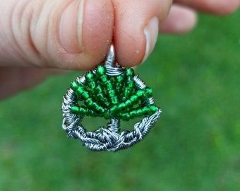 Tiny Wire Wrapped Tree of Life Pendant