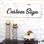 Custom sign for Elizabeth / Please feed the bears / 19 x 59