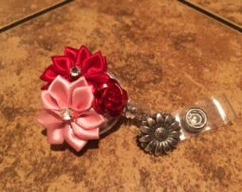 Pink & Red Valentine ID Badge Reel