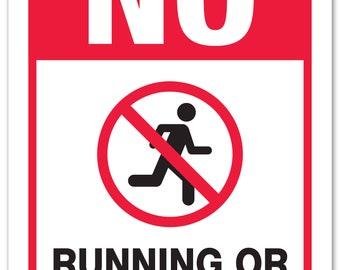 de92b3b4cc3f No Running Or Horseplay Sign - School Playground Rules - 14