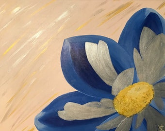 Blue Flower Canvas Painting