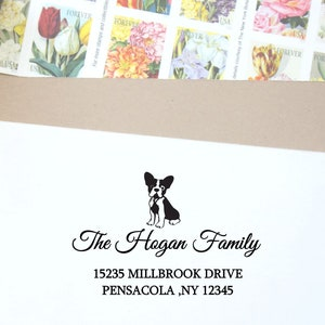 Dog Return Address stamp English schnauzer dog Unique  Personalized address stamp  rubber stamp self ink return address stamp