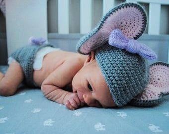 Crochet diaper cover & hat