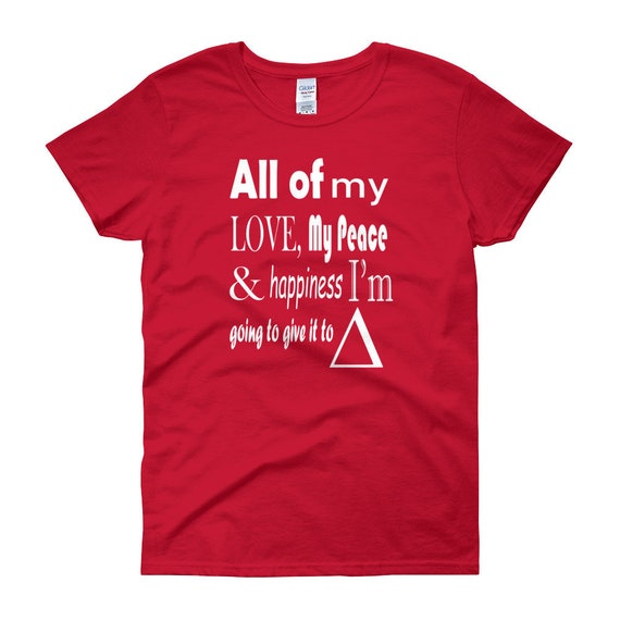 Delta Sigma Theta Red Love Womens Short Sleeve T Shirt Etsy