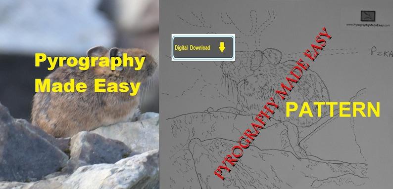 Pika Pyrography Pattern Wood burning pattern digital download image 0