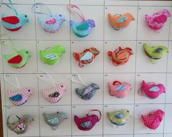 Birds - Fabric / Stuffed / Ornament / Hanging