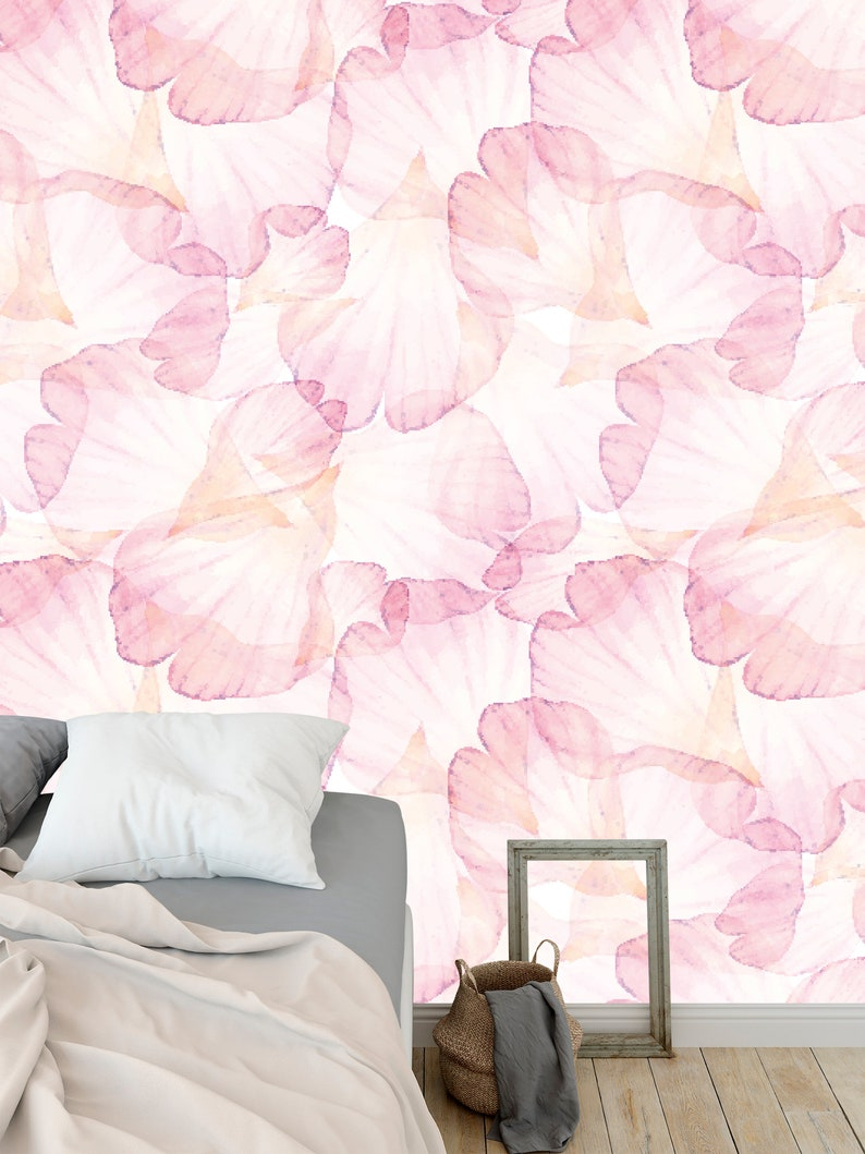 Removable Self Adhesive Peel And Stick Wallpaper Pink Petal Etsy