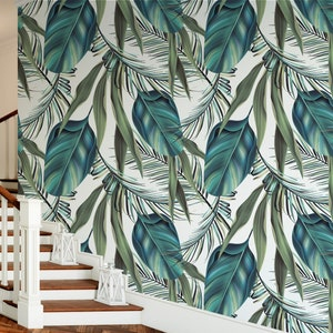124 Coconut Tropcal Wallpaper Self Adhesive Peel And Stick Jungle Wallpaper Repositionable Palm Leaves Coco Big Palm