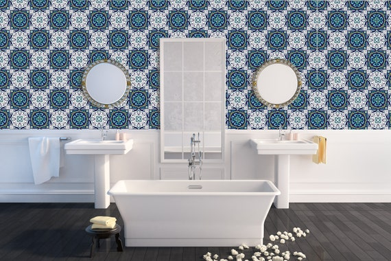Removable Peel And Stick Wallpaper Tiles Portuguese Moroccan