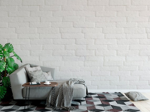 Removable Peel And Stick Wallpaper White Brick Wall Wallpaper