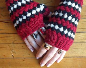 Instant Download: Milk Snake Mitts knitting pattern PDF