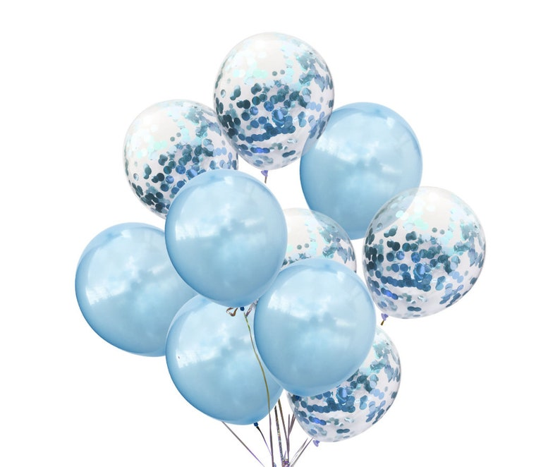 10pcs Birthday Balloons Latex Balloons Rose Gold Confetti Balloons Birthday Party Decor 11 Confetti Balloons Bachelorette Balloons