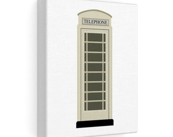 Hull Phone Box (KC) From Kingston Upon Hull In Cream Stretched Canvas