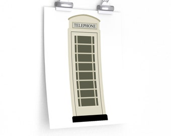 Hull Phone Box (KC) From Kingston Upon Hull In Cream Poster