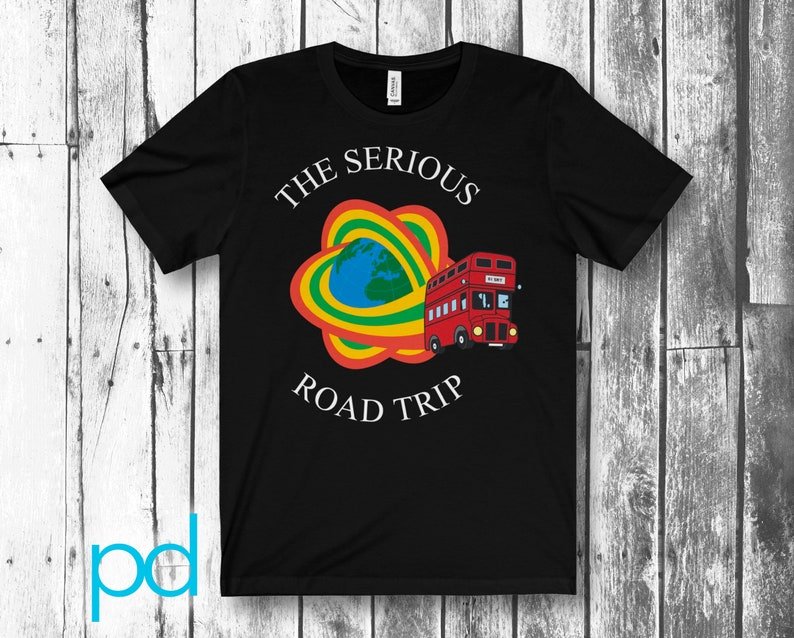The Serious Road Trip TSRT T-Shirt. Unisex Jersey Short Black