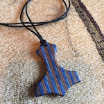Reserved for Karl - Hammer of Thor Laminated Wood Pendant