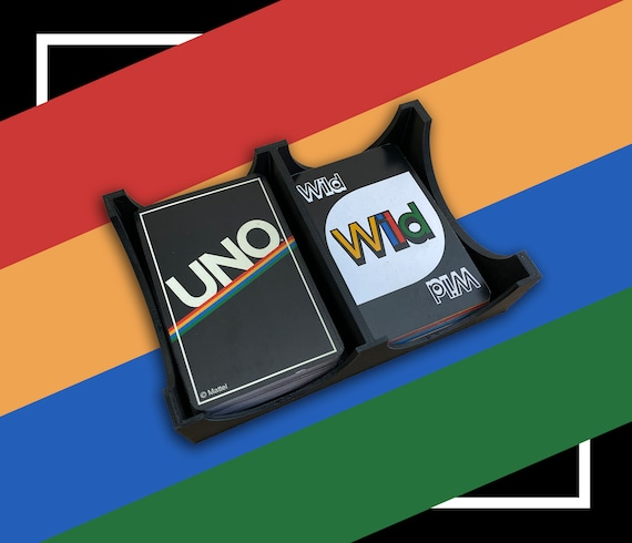 Card Game Holder Tray Uno Uno Tray Dual Card Deck Holder Etsy