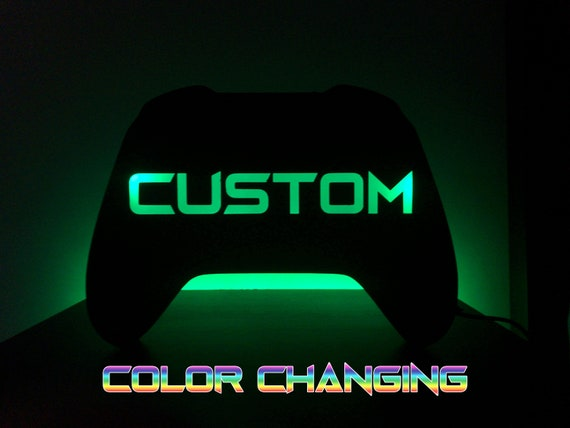 Custom Led Game Controller Color Changing Sign Light Up Sign Etsy