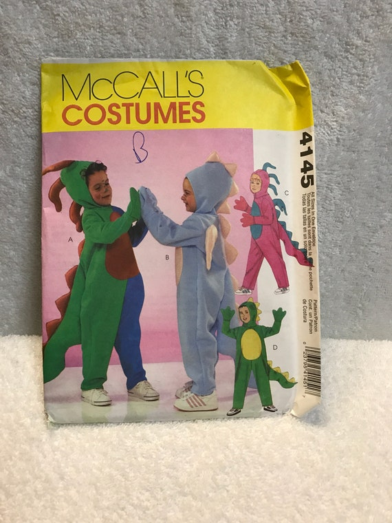 McCalls 4145 Mädchen Jungen Dinosaurier Kostüm Schnittmuster | Etsy