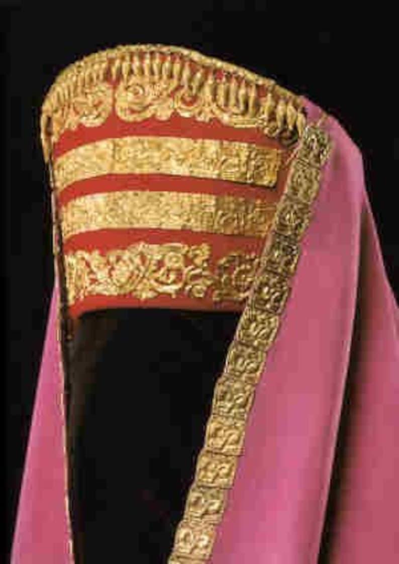 Mediterranean Spanish gold up-cycled sari silk Pillbox hat: Byzantine,Ottoman Egyptian Mamluk 5-16th c SCA LARP Green