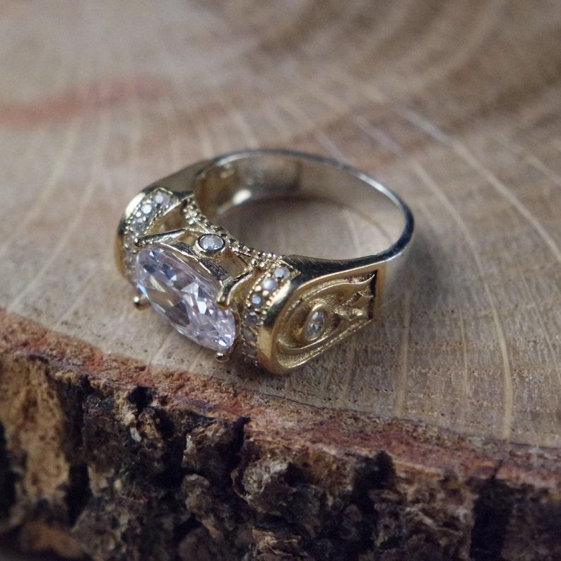 Turkish Handmade Silver 925k Zircon Ottoman Style Ring Free Resize Fast Shipping