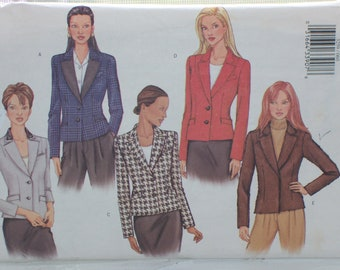 Butterick Misses Blazer Jacket-Business Attire/Casual Work/Professional Clothes-Regular Sizes