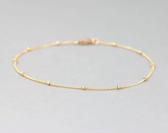 Dainty 14k Gold Filled Layering Bracelet