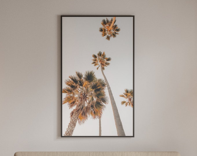 Palm City, Neutral Tones, Encinitas, California, Coastal Decor, Boho, Wall Art Print, Printable Art, Instant Download, Palm Tree Print